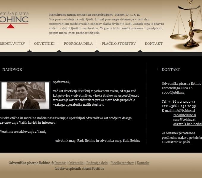 Odvetniška pisarna Bohinc